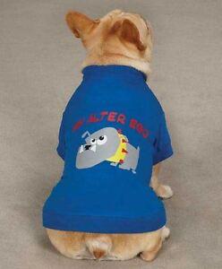 Alter Ego Tough Dog T-Shirt Tee Blue NEW Casual Canine Top Pet Shirt  XXS - L