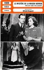 FICHE CINEMA : LE MYSTERE DE LA MAISON NORMAN - Hope,Goddard,Nugent 1939