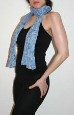 Womens Vintage Crinkle Scarf 100% High Quality Cotton - Boho/Hippy/Ethnic Style