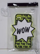 Victoria's Secret PINK Black Lime Green WOW Star Iphone 4 4S Cover Case Sleeve