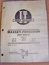 Massey Ferguson shopmanual model MF303 404 406 MHF 303 404 MH 333 444 1001 MF-10