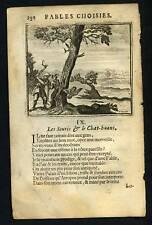 FABLE LA FONTAINE Les souris et le Chat Gravure 1703