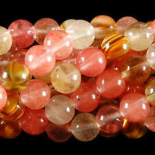"AAA 10mm Huge Pink Watermelon Tourmaline Gems Round loose Bead 15"""