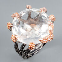 Sale Discount Ring Natural Quartz 925 Sterling Silver Ring Size 8.5/R125030