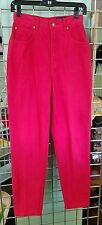 Red Vintage Lawman High Waisted Cowboy Classic Cut Cowgirl Straight Leg Jeans