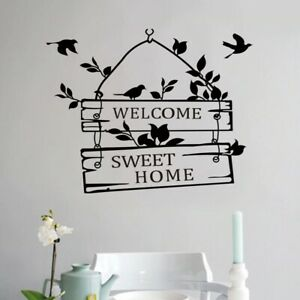 Welcome sweet home quotes wall stickers home decor door sign wall Mural Decal