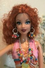 Handmade Jewelry for Barbie - Multi-color Beads Necklace and Earrings