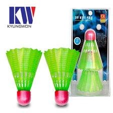 Nylon Shuttlecock(LED Light), 1 Pack(2 pcs), for Nights' Badminton Playing