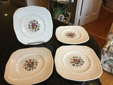 """Wedgwood Edme Square 8 5/8"""" Luncheon Plate """"Conway"""" Set of 4, Rare"""
