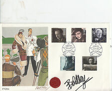 HAND SIGNED BY BOB HOPE BRITISH FILM YEAR 1985 FINE ARTS NUMBERED PRINT FDC.
