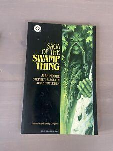Vintage Saga Of the Swamp Thing 1987 TPB 2nd PRINT DC Graphic Novel Comic Book