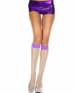 New Music Legs 5787 Rainbow Crochet Knee High Socks