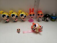 Power Puff Girls Toy Figures Cartoon McDonalds Toy  (Lot of 9)- Fast Shipping