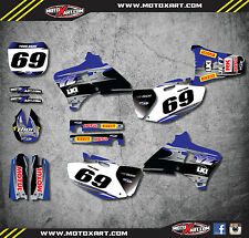 Full  Custom Sticker Kit - BLUE STEEL - Yamaha YZ 250 400 426 - 1998 - 2002