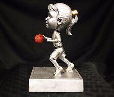 Female Basketball Bobblehead Resin Trophy Award - Free Engraving