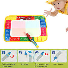 Kids Toy Magic Water Painting Mat Writing Drawing Doodle Board Pad Pen Gift Safe