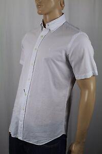 Ralph Lauren White Classic Short Sleeve Seersucker Dress Shirt White Pony NWT