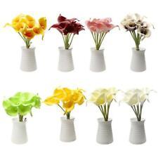Calla Lily Bouquet Home Party Vase Artificial Flower Photograph Prop Decoration