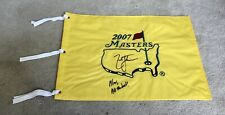 Zach Johnson 2007 Masters Champion Personalized Signed Masters Pin Flag