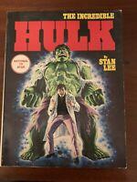 The Incredible Hulk Trade Paperback Fine 1st print 1978 Fireside Marvel Comics