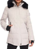 Alpine North Womens Jackets Gray Black Size XL Parka Hooded Faux-Fur $109 823
