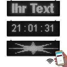 LED Lauftexte leuchtschrift Gewerbe Praxis Shisha Bar Weiss WiFi Wlan App Neu