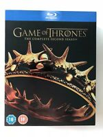 Game Of Thrones Season 2 (Blu-ray 5-Disc Set) Region B (Australia/UK) Unplayed!