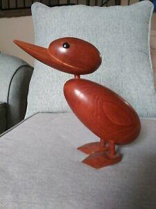 Mid Century Teak Duck Hong Kong Rare