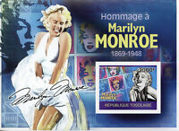 Togo Marilyn Monroe Stamps 2010 MNH Famous People Celebrities 1v S/S