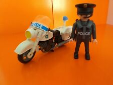 Playmobile oficial de policía con motocicleta Muy Buen Estado