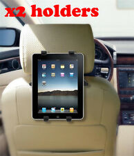 2x Car Headrest Tablet Holder iPad Android Rear Passenger Seat Holders 260mm Max