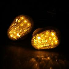 LED Amber Turn Signals Lights  For Kawasaki ZX6R 1998-2004/ZX12R 2000-2005 01 02