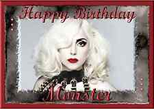 Lady Gaga personalised A5 birthday card daughter son brother sister friend name