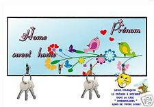 accroche clés mural en bois oiseau réf 253 personnalisable prénom