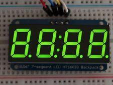 """Adafruit 0.56"""" 4-digitos Pantalla de 7 segmentos con I2C Mochila-Verde [ADA880]"""