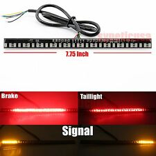 "Universal Motorcycle Light Strip Tail Brake Stop Turn Signal 33 LED 8"" 2835 Chip"