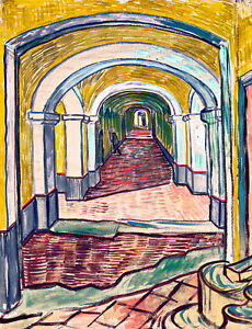 Corridor in the Asylum by Vincent van Gogh A2 High Quality Art Print