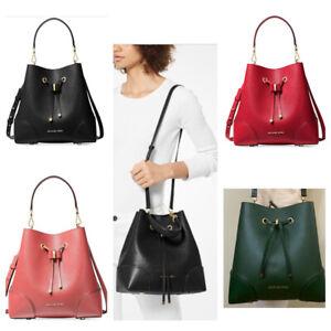 Michael Kors Mercer Gallery Medium Convertible Bucket Leather Shoulder Bag