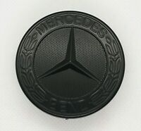 Mercedes Benz Matt Black Bonnet Badge Emblem 57mm B, C, E, S, CLK, AMG Class
