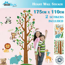Wall Stickers Removable Rhinoceros Lion Height Kids Nursery Decal Growth Chart