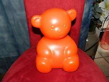 Süße Bärchen Lampe - sitzend orange - Bären Leuchte Gummibärchen Nachtlicht