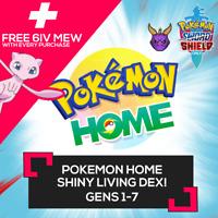 Pokemon Home ✨Shiny✨ Living Dex! 845 Pokemon FAST!