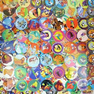 Lot of 25 Disney Themed Pogs / Milk Caps Unsorted! Retro Game Nostalgia!