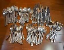 Mixed Lot Stainless Flatware 108pcs Reed & Barton Lenox Gorham More Svc for 20