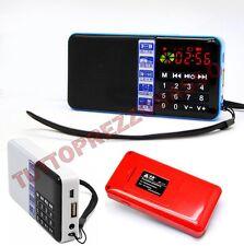 Mini cassa radio fm speaker altoparlante mp3 sd orologio minicassa ricaricabile