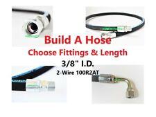 "Build A Hose - 3/8"" I.D. Hydraulic Hose 4800 PSI - Choose Fittings & Length"