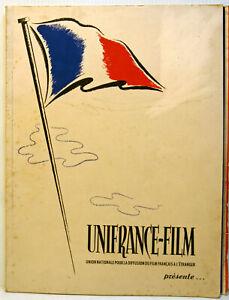 """RARE -   revue  corporative """" UNIFRANCE-FILM """"-  Paris - 1949/50/51- 3 Numéros"""