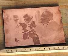 MENSCHEN Galvano Druckstock Kupferklischee Druckplatte Drucker Bleisatz Druck