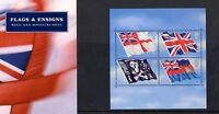 2001 Flags and Ensigns Miniature Sheet  Presentation Pack number M06