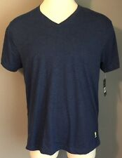 US Polo Assn Uspa Mens T Shirt V Neck Casual Short Sleeve Blue India Size L New